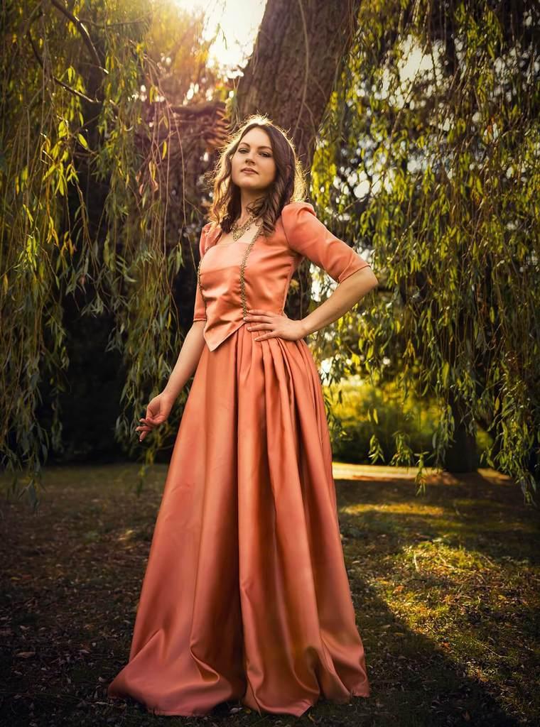 Elidee Vitan in her ball gown
