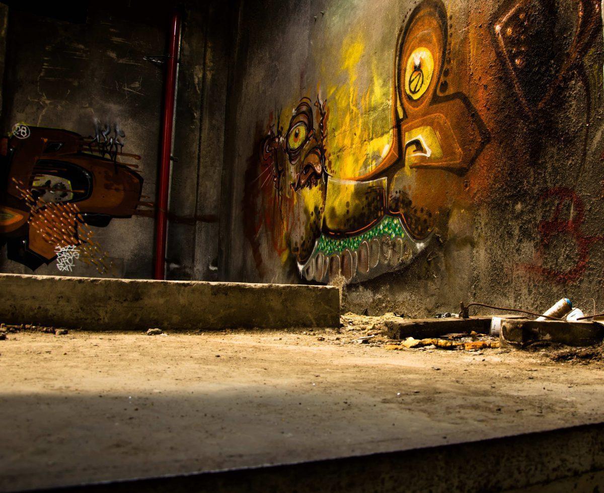graffiti with a easteregg